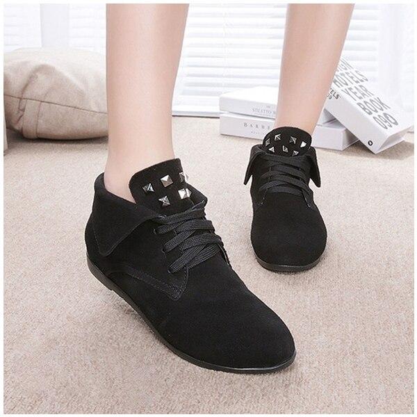 ASDS winter women boots leather flat Korean rivet Martin boots ankle boots<br><br>Aliexpress