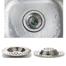 Cheap! Stainless steel sink strainers sewer filter bathroom drainer kitchen sink filters anti clogging floor drain net(China)