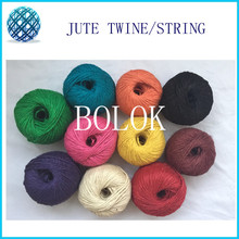 5pcs/lot 10colors 2ply 1.5mm Colorful Jute Rope 100Meters Jute Hemp Twine String Craft Making DIY