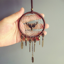 New Arrival Car Hanging Home Decorations Dream Catcher Car Home Hanging with elk and Jingle Bells Best Gifts for Her