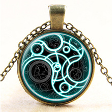 1Pcs/Lot New Steampunk handmade uk movie dr doctor who bomb necklace bronze glass silver Pendant jewelry mens womens gift 2017(China)