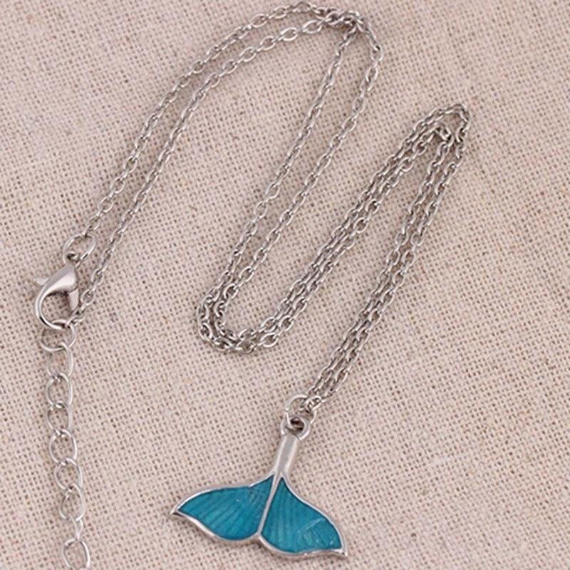 Luminous Mermaid Fish Tail Pendant Necklace