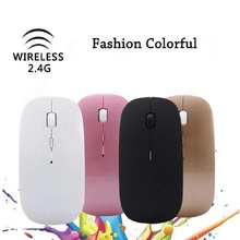 Hot 2.4Ghz Multicolor USB Mini Ultra-thin Wireless Mouse Slim Optical Mice For Laptop MAC Macbook Pro Air Windows OS