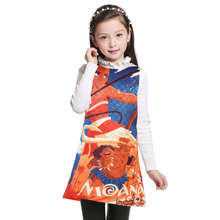 Dress Moana for Girls Clothes Printed Toddler Princess Children Clothing Trolls Dresses Kids 3-12 Years Robe Fillette Costumes(China)