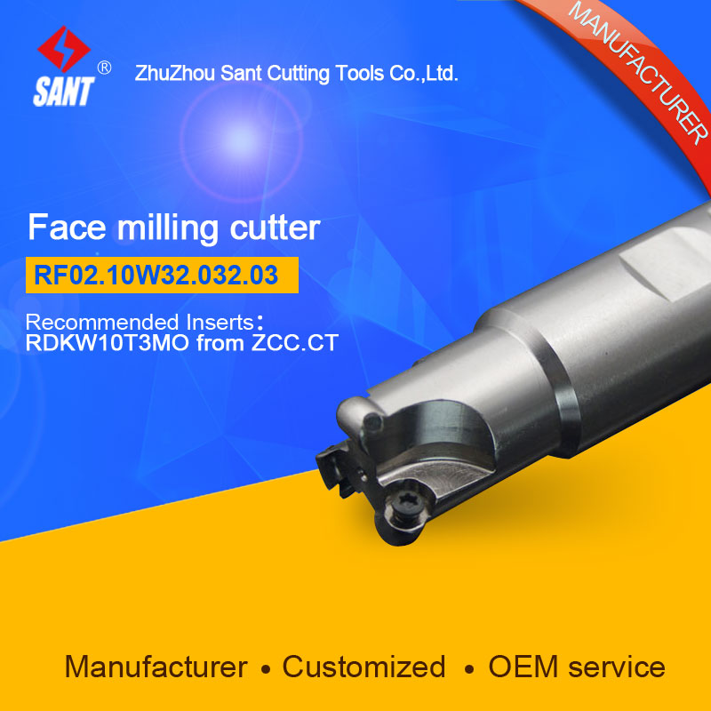 Suggested FMR03-032-XP32-RD10-03  Indexable Milling cutter SANT RF02.10W32.032.03 with RDKW10T3MO carbide insert<br>