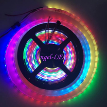 5m/roll DC5V ws2812b 150led 300led ws2812IC built-in Individually Addressable 30/60leds/m 5050 RGB Dream Color LED Strip Light(China)