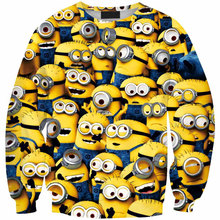 Thief Daddy Little Yellow People 3D Sweatshirt Men/Womens Hoodies Harajuku Style Funny Despicable Me Print  Hombre Sudadera