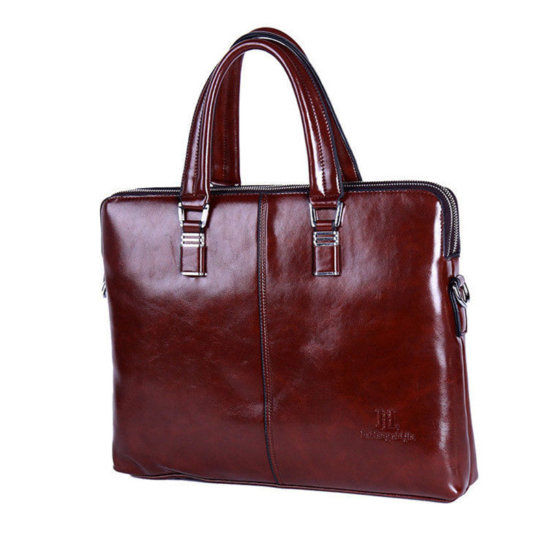 New Famous Brand Mens Leather Briefcase Classic Design Messenger Shoulder Bag Tote Satchel Business Man Bags Fashion Handbag<br><br>Aliexpress