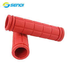Square Block Slip Design 9 Colours Available Non-locked Handlebar Grips 22.2*130mm Bicycle Handlebar Grips BZT005(China)
