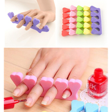 10 pcs/lot Soft Sponge Foam Finger Toe Separators Nail Arts Salon Pedicure Manicure Nail Tools