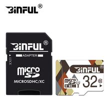 BiNFUL Class10 cartao de memoria memory card 32GB micro sd card 128GB 64GB Microsd 16GB 8GB TF 4GB C6 mini card free adapter