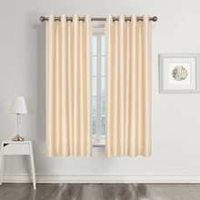 1PC curtains for kitchen Thermal Insulated Grommet Blackout Curtains for Bedroom(China)