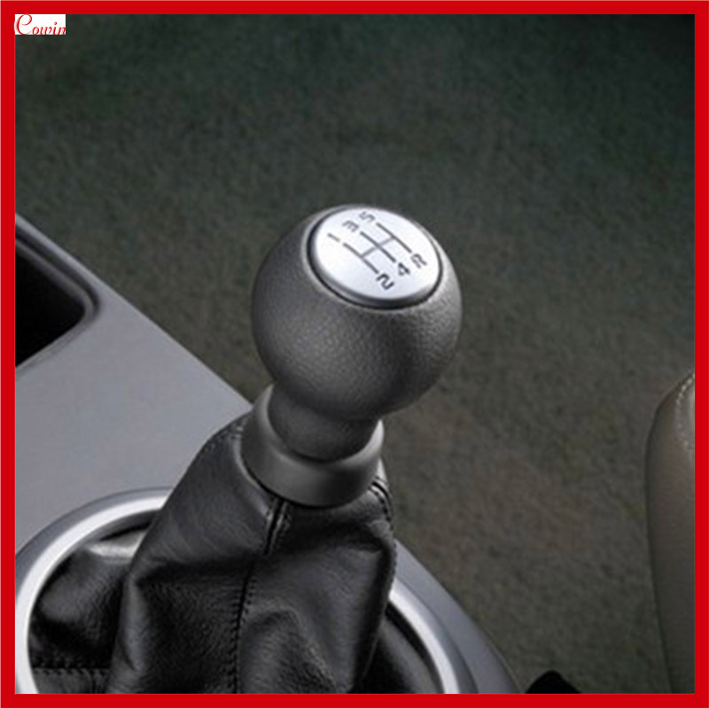 Abfer Shifter Knob 5 Speed Car Shift Gear Stick Knobs with Red Line Fit Most Universal Automatic Manual Transmission Vehicle