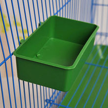 Plastic Food Water Bowl Cups Parrot Bathing Bird Pigeons Cage Sand Cup Feeding(China)