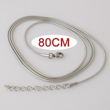 10pcs/lot 80CM high quality Stainless steel Snake Chain necklace KB3305
