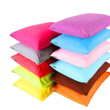 1 Pair/2pcs 100% Polyester Pillowcase Soild Pillow Cases Fronha Decorative Plain Pillow Cover Cheap But Good Quality Pillow Case
