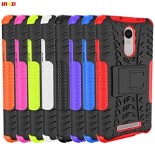 LELOZI Armor Back Fashion Rubberized Plastic Anti Slide Case for Xiaomi Mi 5 Note Redmi Hong mi Red mi 3 3 2 1(China)