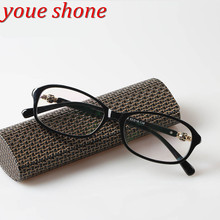 youe shone Full Frame Plastic Ultralight Reading Glasses Diopter Glasses Woman Men Glasses Presbyopia with Case(China)
