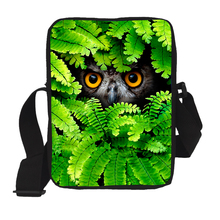 Brand Original Animal Owl Leopard Messenger Bag for Boys Cool Men Bolsos Animal Casual Bags Mujer Children Kids Crossbody Bags(China)