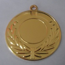 Medal:sports event medal 50 mm gold plating standard design stock medal factory price without custom clearance