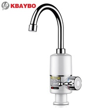 3000W Tankless Faucet Water Heater Instant Electric Water Heater Tap Kitchen Electric Faucet Instant Hot 3 seconds heating(China)