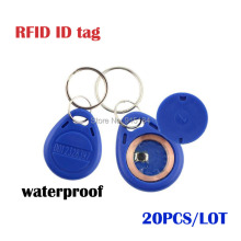 20pcs/Lot Smart RFID 125 KHz ID Cards Key Fobs BlueTag Key Fob Entry Door Access Control System Keychain Cards ID Card Token Tag