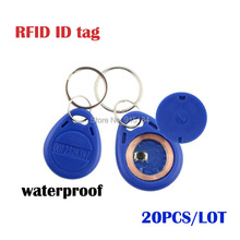 20pcs/Lot Smart RFID 125 KHz ID Cards Key Fobs BlueTag Key Fob Entry Door Access Control System Keychain Cards ID Card Token Tag(China)