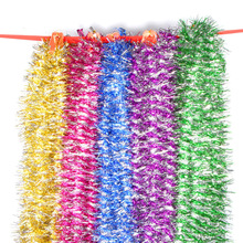 Christmas striped ribbon garland Christmas decoration wreath multicolor bold color stripes ornaments