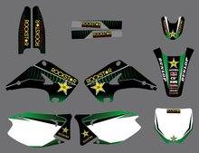 GRAPHICS & BACKGROUNDS DECAL STICKERS Kit for Kawasaki KX125 KX250 2003 2004 2005 2006 2007 2008 2009 2010 2011 2012 KX 125 250