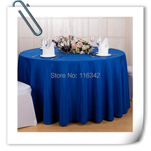 wholesale cheap polyester 70inch 20pcs blue tablecloths FREE SHIPPING(China)