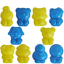 10pcs Cartoon Hello Kitty Shape Mars Sand Polymer Clay Fimo Mould Sculpture Super Light Clay Plasticine Mold DIY(China)