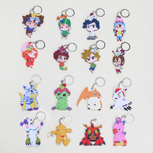 16pcs/set Anime Digimon Adventure Agumon Patamon Tailmon Gomamon Piyomon Gabumon PVC Figure Keychain Pendant Toys