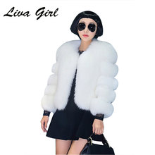Fashionable Artificial Fur Coat 2017 Autumn Winter New Women's Fur Mink Variety of Colors Jacket Short Section Leisure Fur Coat