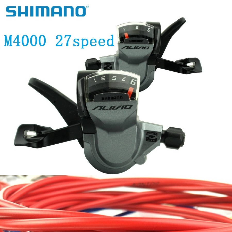 Shimano Alivio SL BR FD M4000 Derailleurs 3 Speed 9 Speed 27 S Shift Lever Bicycle Front Rear Derailleur & Shift Cable Housing