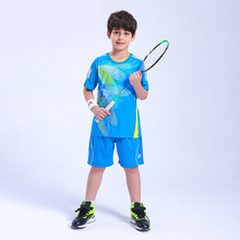New Child Badminton Wear Boys Girls Teenager Shirt and Shorts Sportswear Tennis Set Table Tennis Clothing Quick Dry Sport Suits(China)