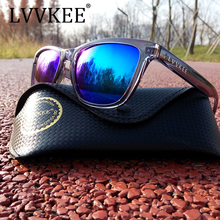 LVVKEE 2017 Mens classic Brand sunglasses Women Black Coating Outdoors sports Sunglass UV400 Eyewear Oculos de sol Original logo