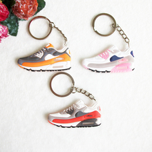 Mini Silicone Airer 90 Keychain Key Chain Jordan Shoes Sneaker Car Key Holder Woman Men Bag Charm Accessories Key Rings Pendant(China)