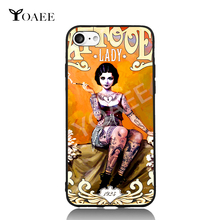Vintage Retro Lady Gaga Sexy Girl 8 Choices For iPhone 6 6s 7 Plus Case TPU Phone Cases Cover Mobile Protection Decor Gift