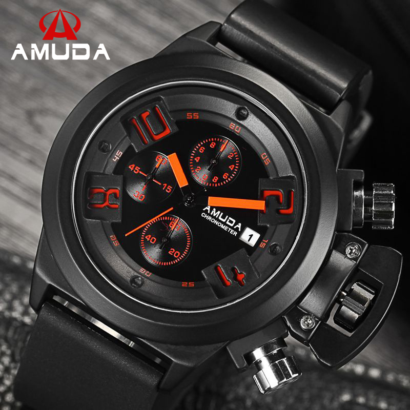 2016 Original AMUDA CHRONOGRAPH 24 Hours Function Mens Quartz Sport Watches Army Military Watch Montre Homme Reloj<br><br>Aliexpress