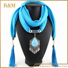 New Charms winter Scarf Necklaces tassel national Pendant scarf Necklaces Women Scarf Necklaces Jewelry Wholesale