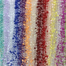 1 Meters Fishing Line Artificial Pearls Beads Chain Garland Flowers DIY Wedding Party Decoration Products Supply(China)