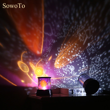3D LED Room Novelty Night Light Projector Lamp Rotary Flashing Starry Star Moon Sky Star Projector Kids Children Baby Abajur(China)