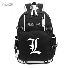 Japan Anime Death Note Backpack Large Oxford Luminous Printing Shoulder Bag for Boys Girls Travel Laptop Book Bags