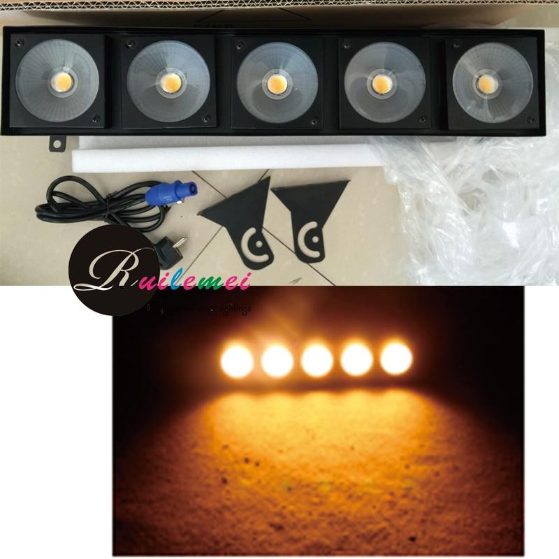 Free Shipping 4 Pieces DMX LED Matrix 5x30W COB Stage Light Warm White  Blinder DJ Club