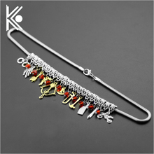 DIY 2 style High quality The walking dead women choker mace/crossbow/roscoe/telescope/bicycle/axe Combination of the necklace