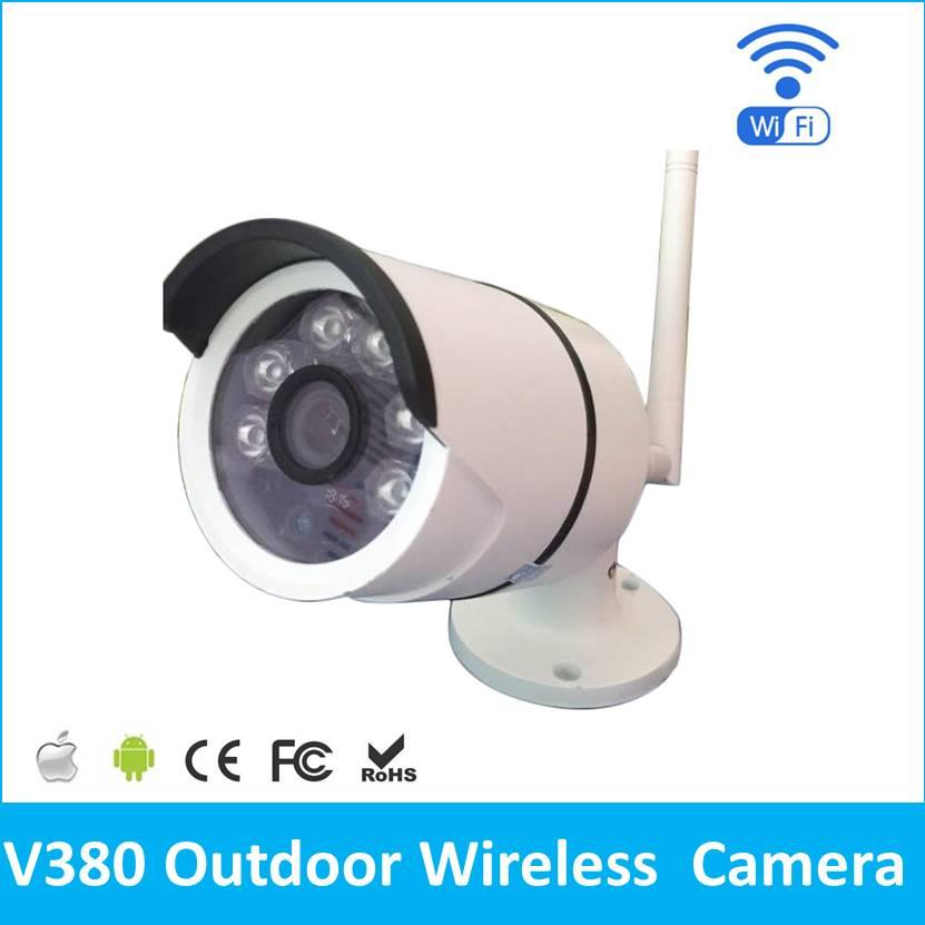 Outdoor IP camera WIFI Megapixel 720p HD Security CCTV IP Cam IR Infrared SD Card Slot P2P V380 Bullet Kamera<br>