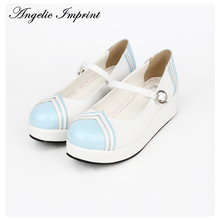 Japanese Harajuku Sailor Lolita Cosplay Shoes Platform Mary Jane School Girl Shoes Navy Uniform Shoes(China)