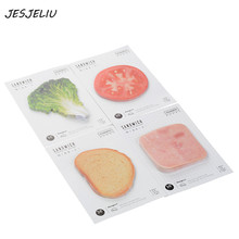 30 Sheets/pack Fresh Vegetables Sandwich Kawaii Creative Bookmarks Stickers Post it Memo Pad Sticky Notes Cute Stationery(China)