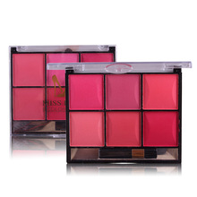 2017 New Fashion 6 Color Rouge Make Up Pallete Blush Face Blusher Contour Foundation Powder Palette Makeup Smoked Warm Color(China)