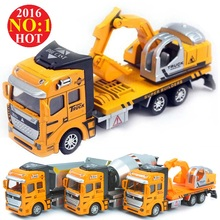 HOT SALES  Alloy Toy Engineering Car Models Dump-car Dump Truck/Concrete Car/Excavator Model Classic Toys For Boy&Girl Child